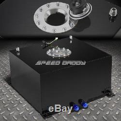 10 Gallon/38l Black Coat Aluminum Racing/drift Fuel Cell Tank+cap+level Sender