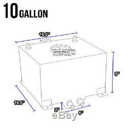 10 Gallon/38l Lightweight Red Coat Aluminum Race Fuel Cell Tank+level Sender