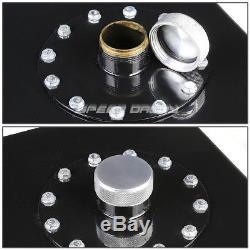 12 Gallon/45l Top-feed Black Aluminum Racing Fuel Cell Gas Tank+cap+level Sender