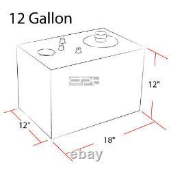 12 Gallon Top-feed Aluminum Race Reserved Tank+cap+level Sender+steel Line Kit