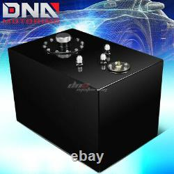 12 Gallon Top-feed Coated Race Fuel Cell Tank+cap+level Sender+steel Line Kit