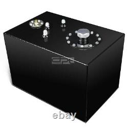 12 Gallon Top-feed Coated Race Reserved Tank+cap+level Sender+steel Line Kit