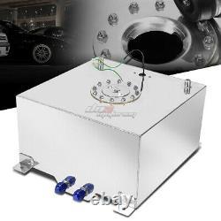 15.5 Gallon/58l Full Aluminum Racing/drift Fuel/gas Cell Tank+cap+level Sender