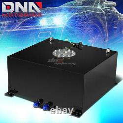 15.5 Gallon/59l Black Aluminum Racing/drift Fuel/gas Cell Tank+cap+level Sender