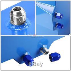 15.5 Gallon/59l Blue Aluminum Racing/drift Fuel/gas Cell Tank+cap+level Sender