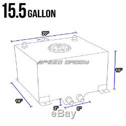 15.5 Gallon/59l Polish Aluminum Racing/drifting Fuel Cell Tank+cap+level Sender