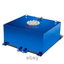 15.5 Gallon/59l Racing Blue Aluminum Gas Fuel Cell Tank+level Sender 20x18x10