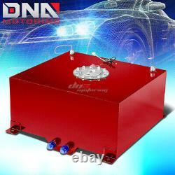 15.5 Gallon/59l Red Aluminum Racing/drift Fuel/gas Cell Tank+cap+level Sender