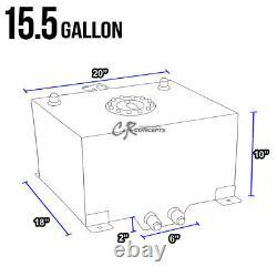 15.5 Gallon Blue Coated Aluminum Race/drifting Fuel Cell Gas Tank+level Sender
