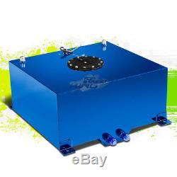 15.5 Gallon Lightweight Race Blue Aluminum Fuel Cell Tank+ Black Cap 20x18x10