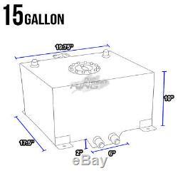 15.5 Gallon Lightweight Race Blue Aluminum Gas Fuel Cell Tank+ Sender 20x18x10