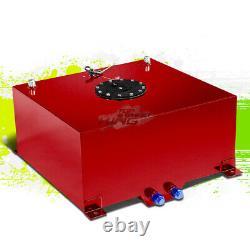 15.5 Gallon Lightweight Race Red Aluminum Fuel Cell Tank+ Black Cap 20x18x10