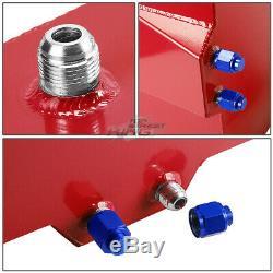 15.5 Gallon Lightweight Race Red Aluminum Gas Fuel Cell Tank+ Sender 20x18x10