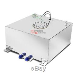 15 Gallon/56.8l Racing Aluminum Gas Fuel Cell Tank+level Sender 19.75x17.5x10