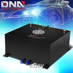 15 Gallon/57l Black Aluminum Racing/drift Fuel/gas Cell Tank+cap+level Sender