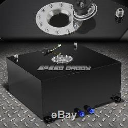 15 Gallon/57l Black Coat Aluminum Racing/drift Fuel Cell Tank+cap+level Sender