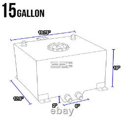 15 Gallon/57l Lightweight Blue Coat Aluminum Race Fuel Cell Tank+level Sender
