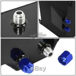 15 Gallon Lightweight Race Black Aluminum Gas Fuel Cell Tank+ Sender 20x17.5x10