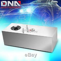 15 Gallon Top-feed Aluminum Race Fuel Cell Tank+cap+level Sender+nylon Line Kit