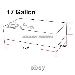 17 Gallon/64l Top-feed Aluminum Racing/drift Fuel Cell Gas Tank+cap+level Sender