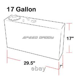 17 Gallon/64l Top-feed Slim Aluminum Race/fuel Cell Gas Tank+45 Fast Fill Neck