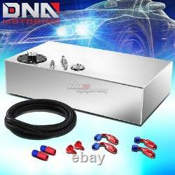 17 Gallon Top-feed Aluminum Race Fuel Cell Tank+cap+level Sender+nylon Line Kit