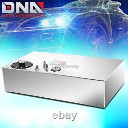 17 Gallon Top-feed Aluminum Race Fuel Cell Tank+cap+level Sender+steel Line Kit