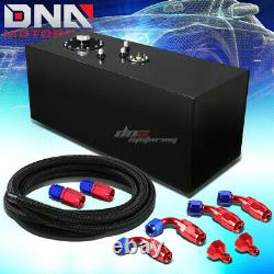 19 Gallon Top-feed Coated Race Fuel Cell Tank+cap+level Sender+steel Line Kit