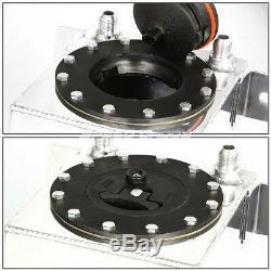1 Gallon Aluminum Racing Fuel Cell Tank+cap+line Kit+pressure Regulator Black