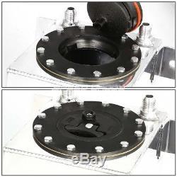 1 Gallon Aluminum Racing Fuel Cell Tank+cap+steel Line Kit+pressure Regulator