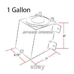 1 Gallon Coated Racing Fuel Cell Tank+cap+line Kit+pressure Regulator Black