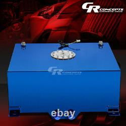 20 Gallon/76l Blue Coat Aluminum Race/drifting Fuel Cell Tank+cap+level Sender