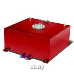 20 Gallon/76l Racing Red Aluminum Gas Fuel Cell Tank+level Sender 19.75x24x10