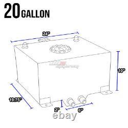 20 Gallon/78l Full Aluminum Racing/drifting Fuel/gas Cell Tank+cap+level Sender
