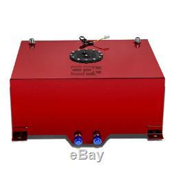 20 Gallon Lightweight Red Coat Aluminum Race Drift Fuel Cell Tank+level Sender