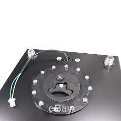 20 Gallon Polished Aluminum Race Drift Fuel Cell Tank Level Sender Hot Rod Black