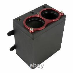 2,4 Liter Aluminium Benzin Catch Tank 2 x 044 Aufnahme Alu Kraftstoff Motorsport