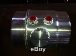2 Gal. Spun Aluminum Fuel Tank Gasser Moon eyes Brackets Work Hot Rod Racing