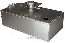 4 Gallon Aluminium JIC Fuel Tank with Splash Bowl & Sender Hole Race OBPFTSSBJIC01