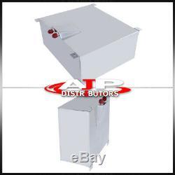 80 Liter Aluminum Fuel Cell Tank Red Cap Level Sender + Oil Feed Line
