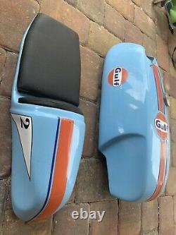 Airtech Rickman Fuel tank And Ducati seat Pad Cafe Road Race Vintage Fiberglass