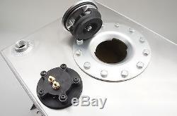 Alloy Racing Car Fuel Cell Tank 10 Gallon with Sender Racing Cap FOAM 40L