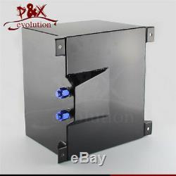 Aluminum 8 Gallon 30.5 Liter Racing Drift Fuel Cell Tank + Level Sender Black