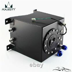 Aluminum Racing Drift Fuel Cell Tank 9.5 Liter + Level Sender 2.5 Gallon Black
