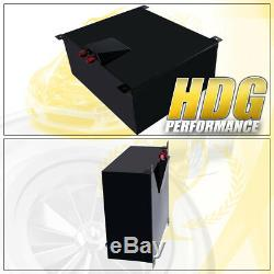 Black Aluminum Fuel Cell Gas Tank 21 Gallon 80 Liters with Red Cap + Oil Feed Line