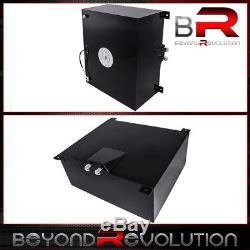 Black Aluminum Fuel Cell Tank with Chrome Cap & Level Guage 80 Liter / 21 Gallon