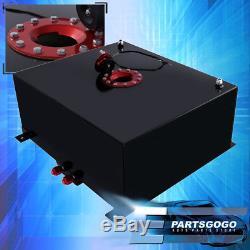Black Aluminum Red Cap Car Fuel Cell Tank 21 Gallon / 80 Liters + Gauge Sender