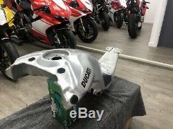 Brushed Aluminium fuel gas tank ducati panigale V4 V4s V4r Race Track Corse
