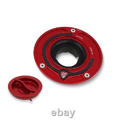 CNC Racing Quick Release Fuel Gas Tank Cap Aprilia RSV4 09-18 Red-Red