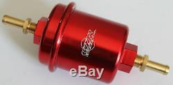 CZR RACING HIGH FLOW FUEL FILTER WASHABLE RED FOR NISSAN 300ZX S13 S14 240sx